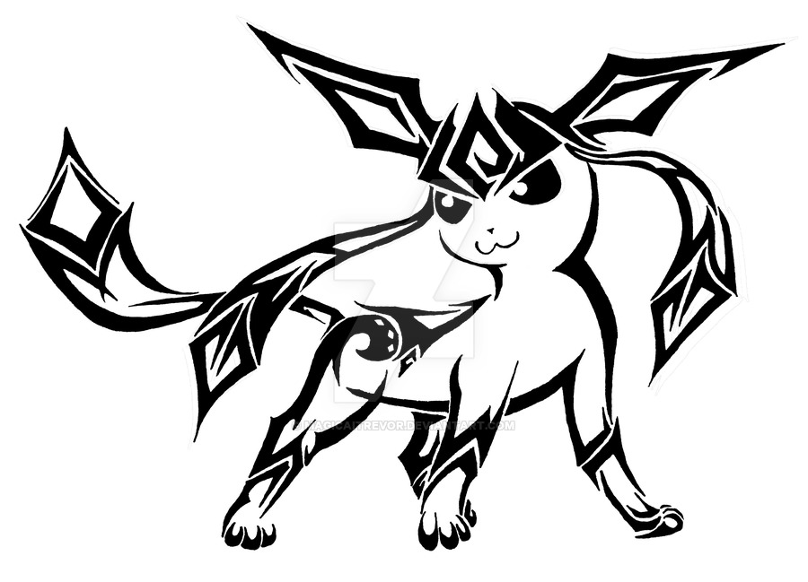 900x649 Tribal Glaceon. By Magicaitrevor
