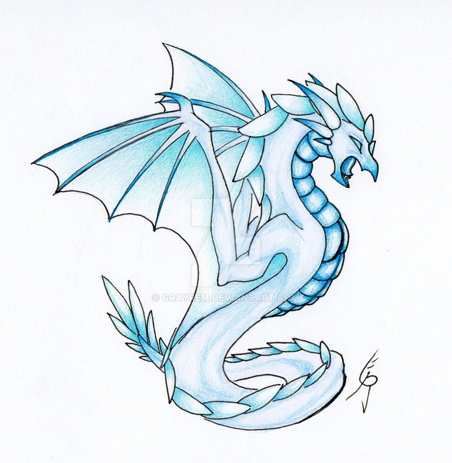 883x905 Glacier Dragon By Grayrem