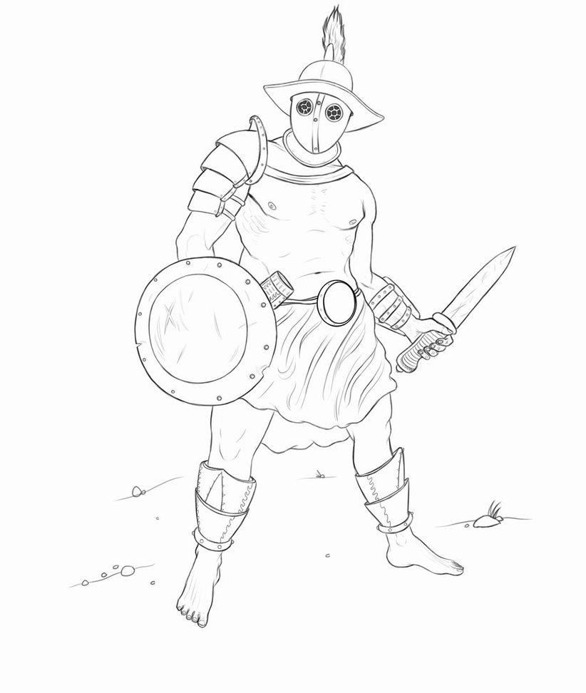 Gladiator Drawing at GetDrawings | Free download