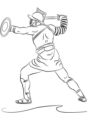 gladiator drawing at getdrawings free