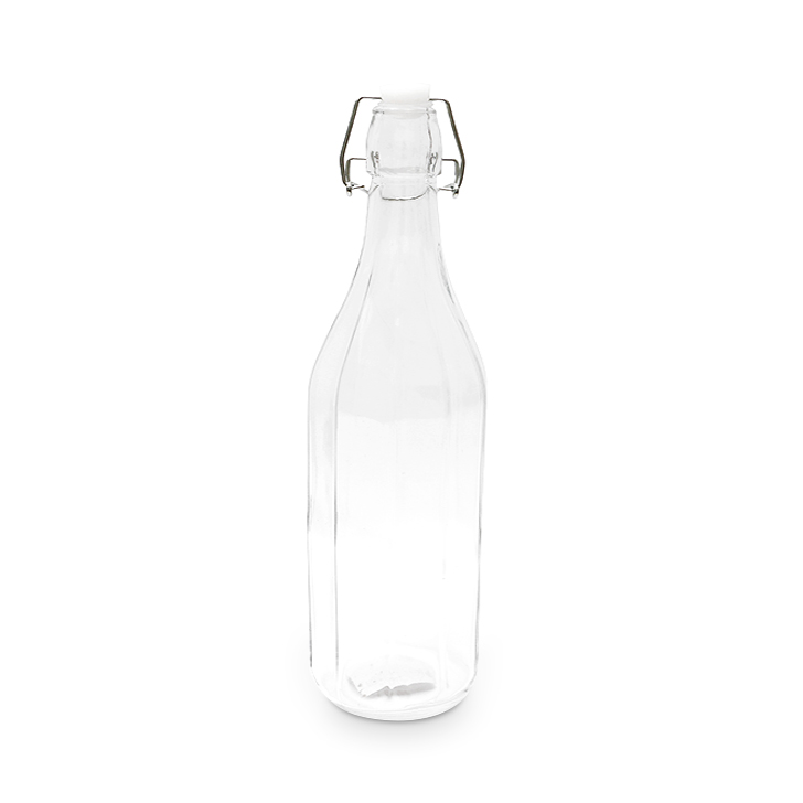 728x728 Buy Living Essence Glass Bottle Transparent Online In India