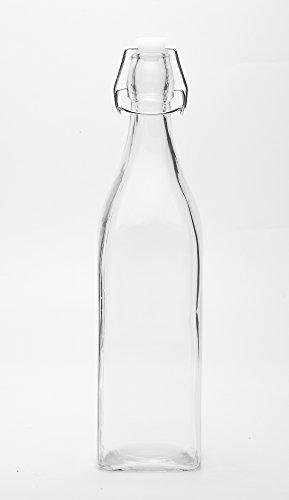 289x500 Godskitchen 1ltr (Set Of 3) Stylish Transparent Bottle With Swing