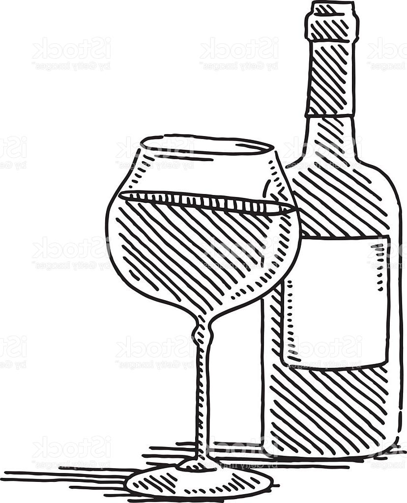 828x1024 Hd Red Wine Glass Bottle Drawing Vector Photos