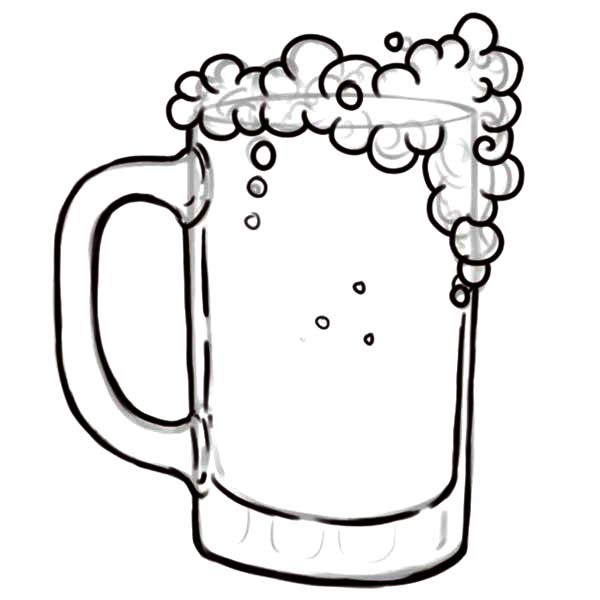 600x600 Drawing Glass Of Beer Coloring Pages Best Place To Color