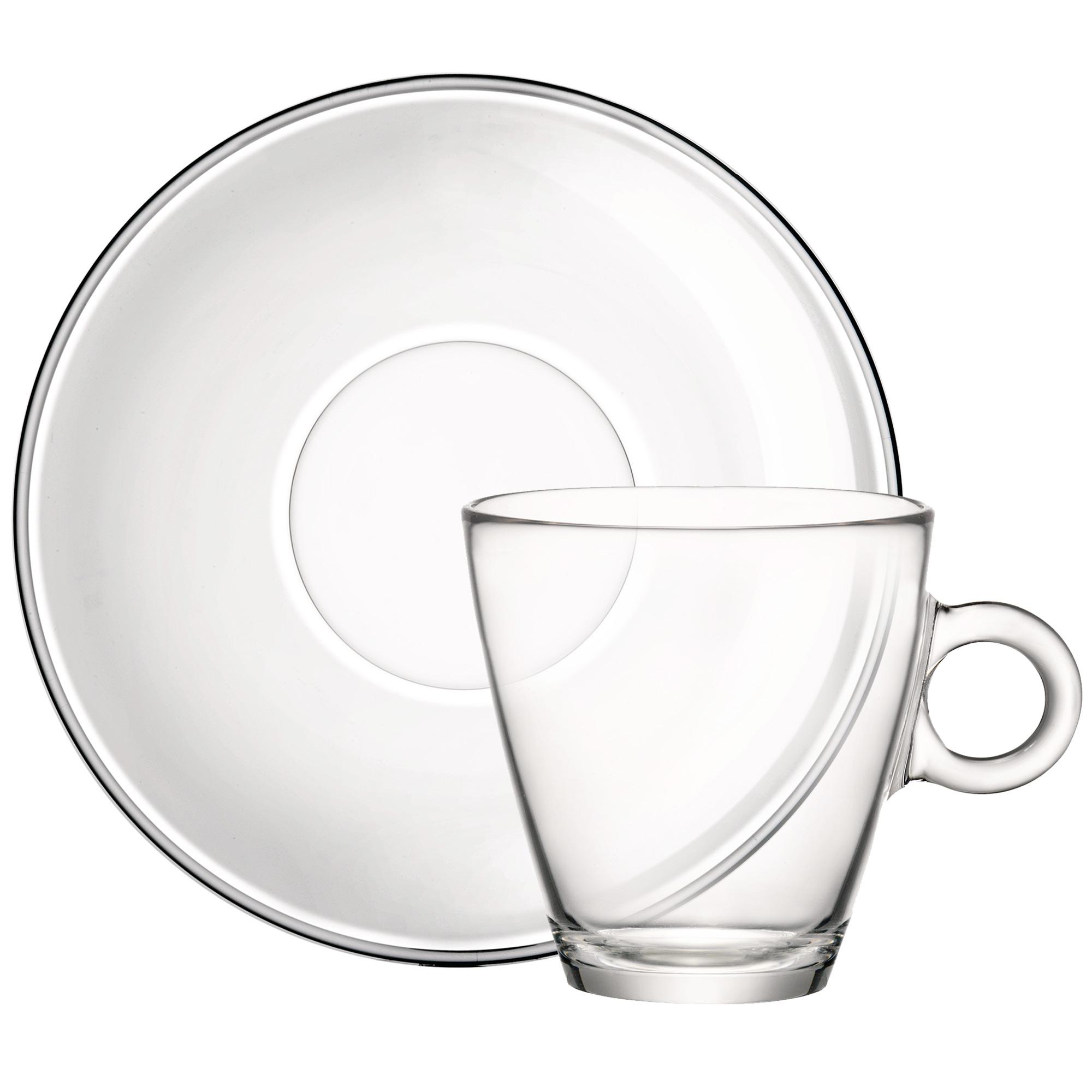 2000x2000 Easy Bar Glass Tea Cup And Saucer 320ml