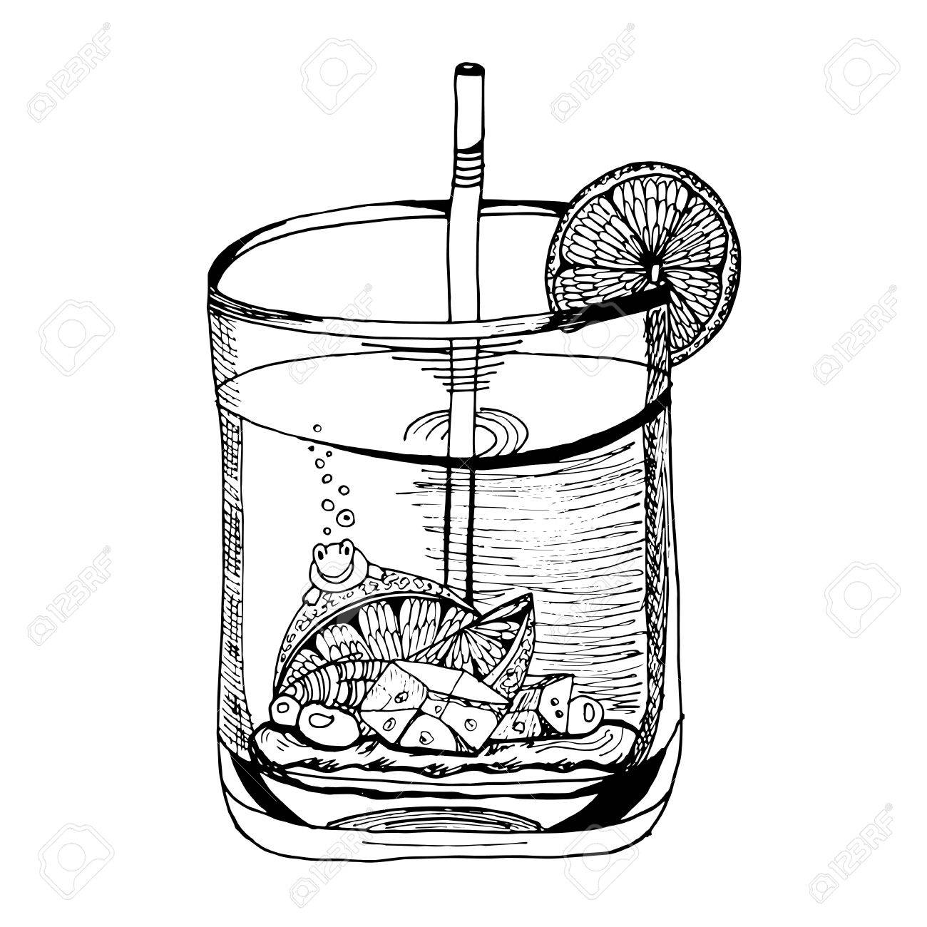 1300x1300 Glass Cup With A Drink Inside Royalty Free Cliparts, Vectors,