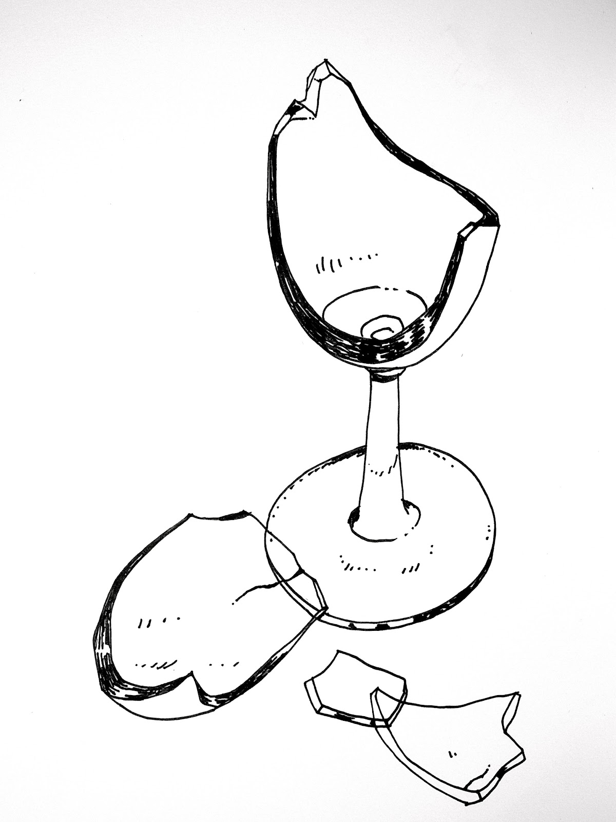 1200x1600 Broken Glass Drawing Drawn Goggles Glass Cup