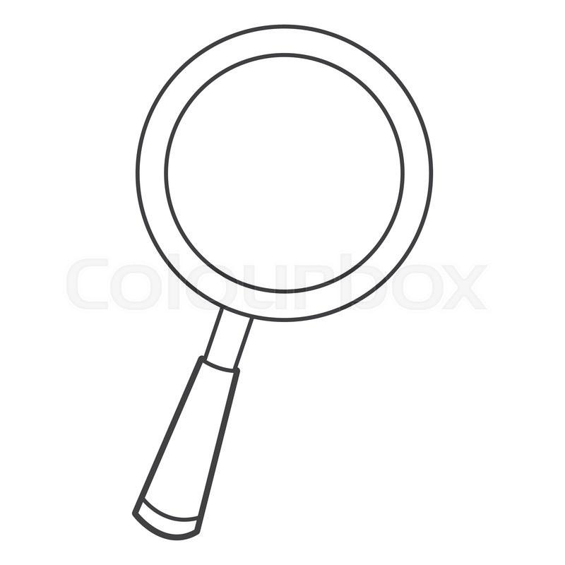 800x800 Flat Design Cartoon Magnifying Glass Icon Vector Illustration