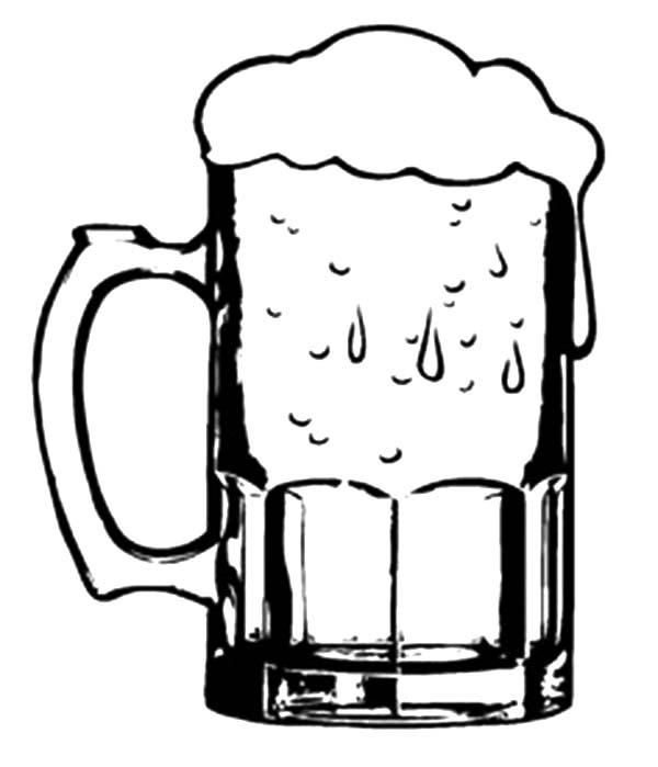 600x699 Onlinelabels Clip Art Beer Glass, Drawing Of Beer