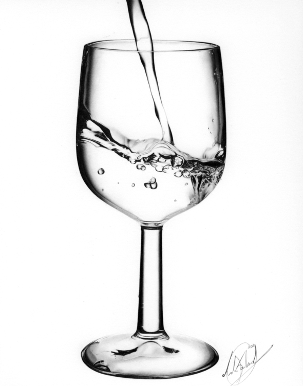 590x751 Wine Glass With Water Drawing By Ngxmusical On Newgrounds