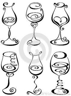 236x320 How To Draw Wine Glasses Step 3 Art Tutorials Wine