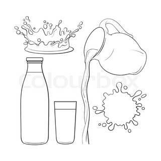 320x320 Drawing Of Liquid, Drink Pouring From Jar, Making A Splash, Sketch