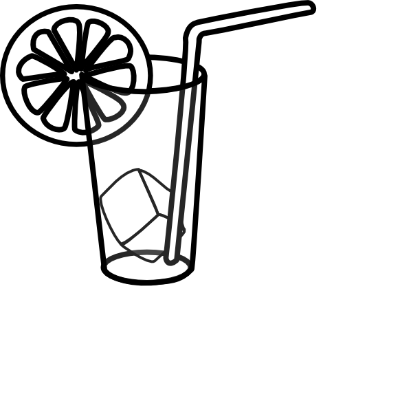 582x599 Glass Of Milk With Straw Clipart Clipart Panda