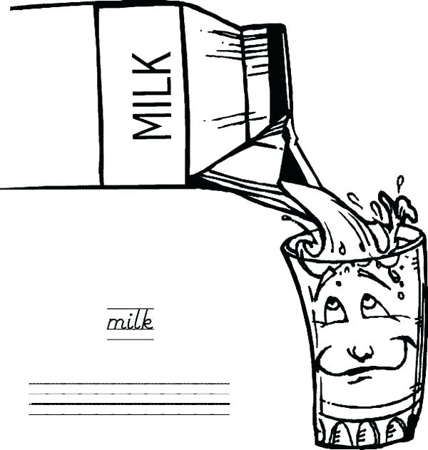 600x631 Milk Carton Coloring Page Other Coloring Pages Printable Milk