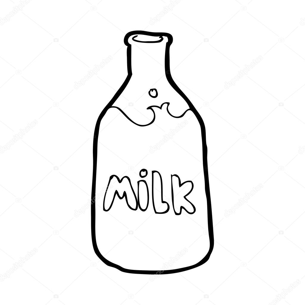 1024x1024 Cartoon Bottle Of Milk Stock Vector Lineartestpilot