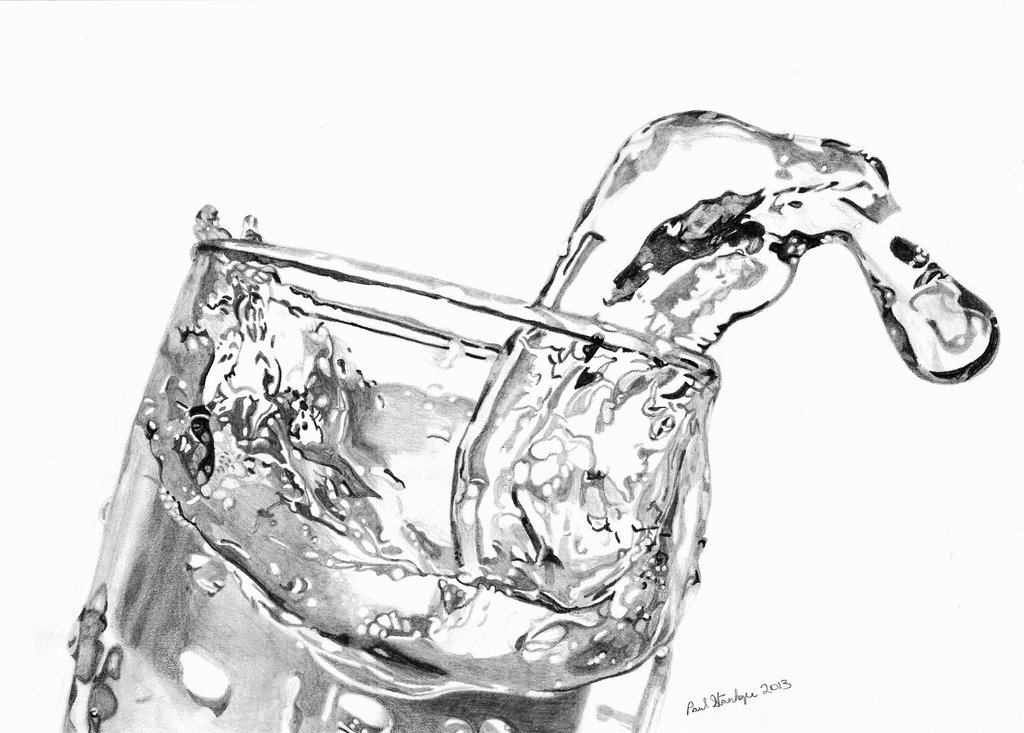 glass of water drawing at getdrawings com
