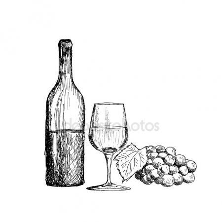 450x450 Grapes. Hand Drawn Sketch Vector Illustration Stock Vector