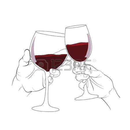 450x450 Hand Holding Glass Of Wine ,cheer, Wine Royalty Free Cliparts