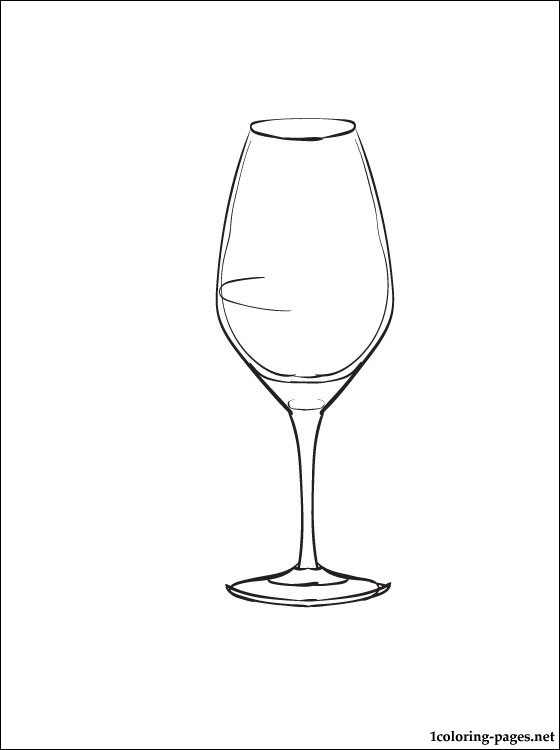 560x750 Wine Glass Coloring Page Coloring Pages