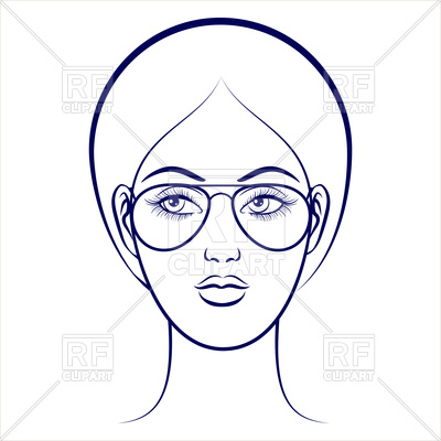 Glasses On Face Drawing