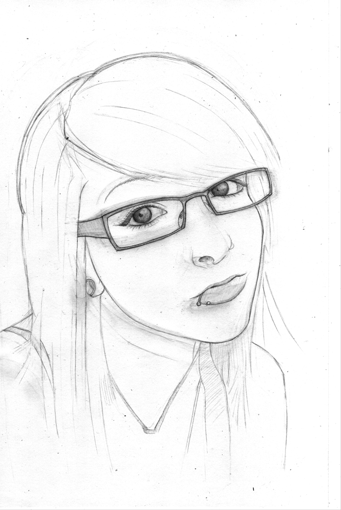 701x1050 Girl With Glasses Wip By Tareexodus