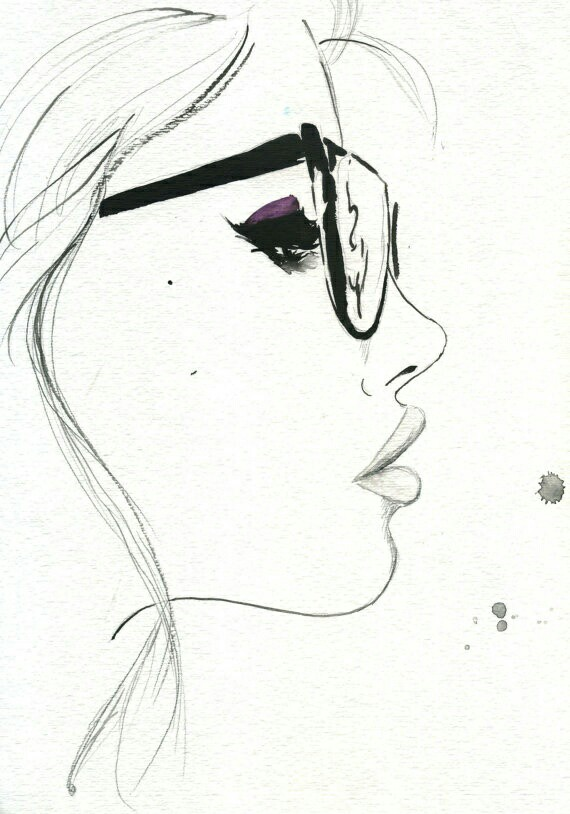 570x814 Glasses Face Artsy Fartsy Face, Glass And Drawings