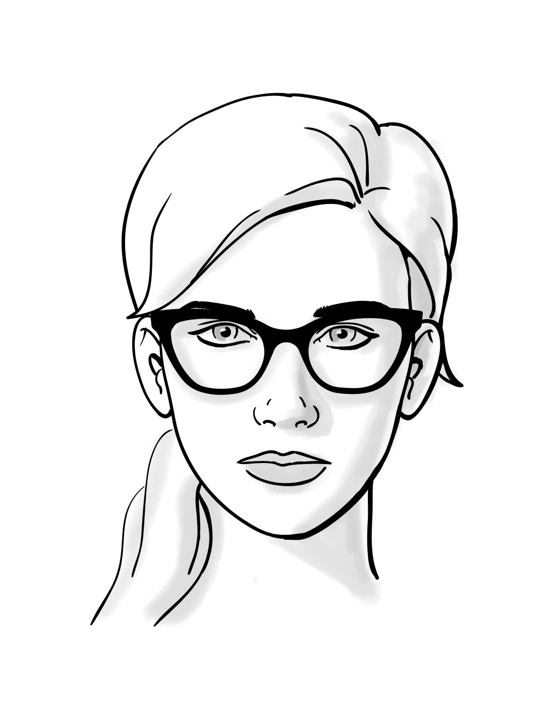 1100x1424 How To Choosing Glasses For Heart Face Shapes Thelook Clearly