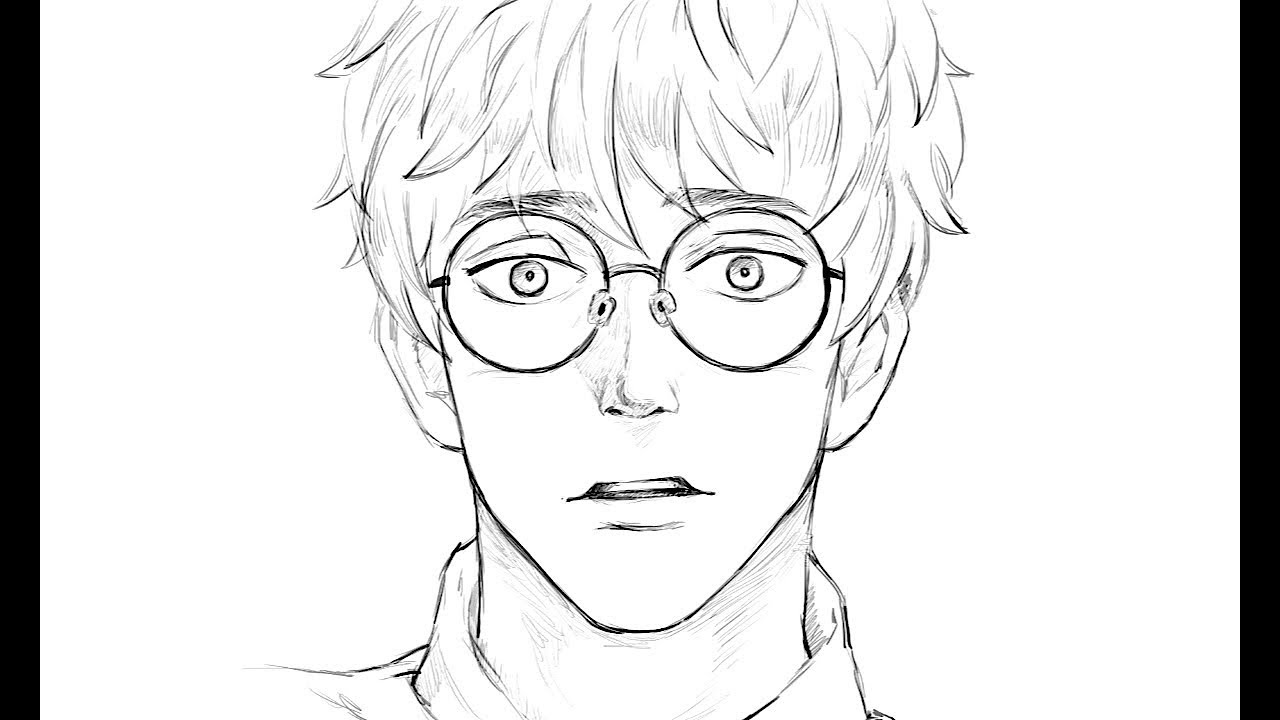 1280x720 How To Draw A Boy In Glasses