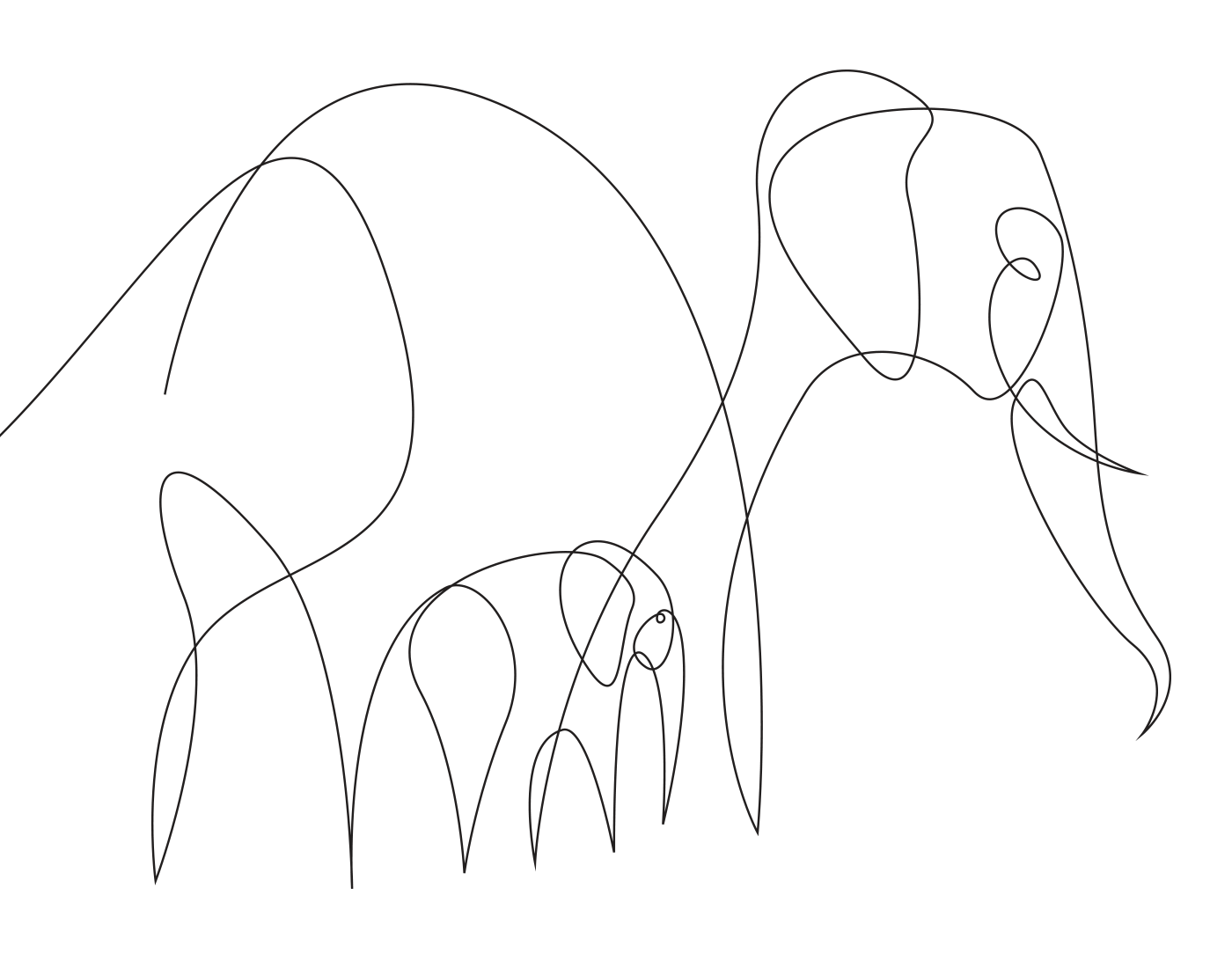 1400x1100 Minimal, Elegant One Line Drawings Illustrate The Magnificence