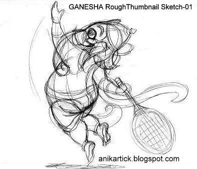 395x338 Pencil Sketches Of God Ganesha