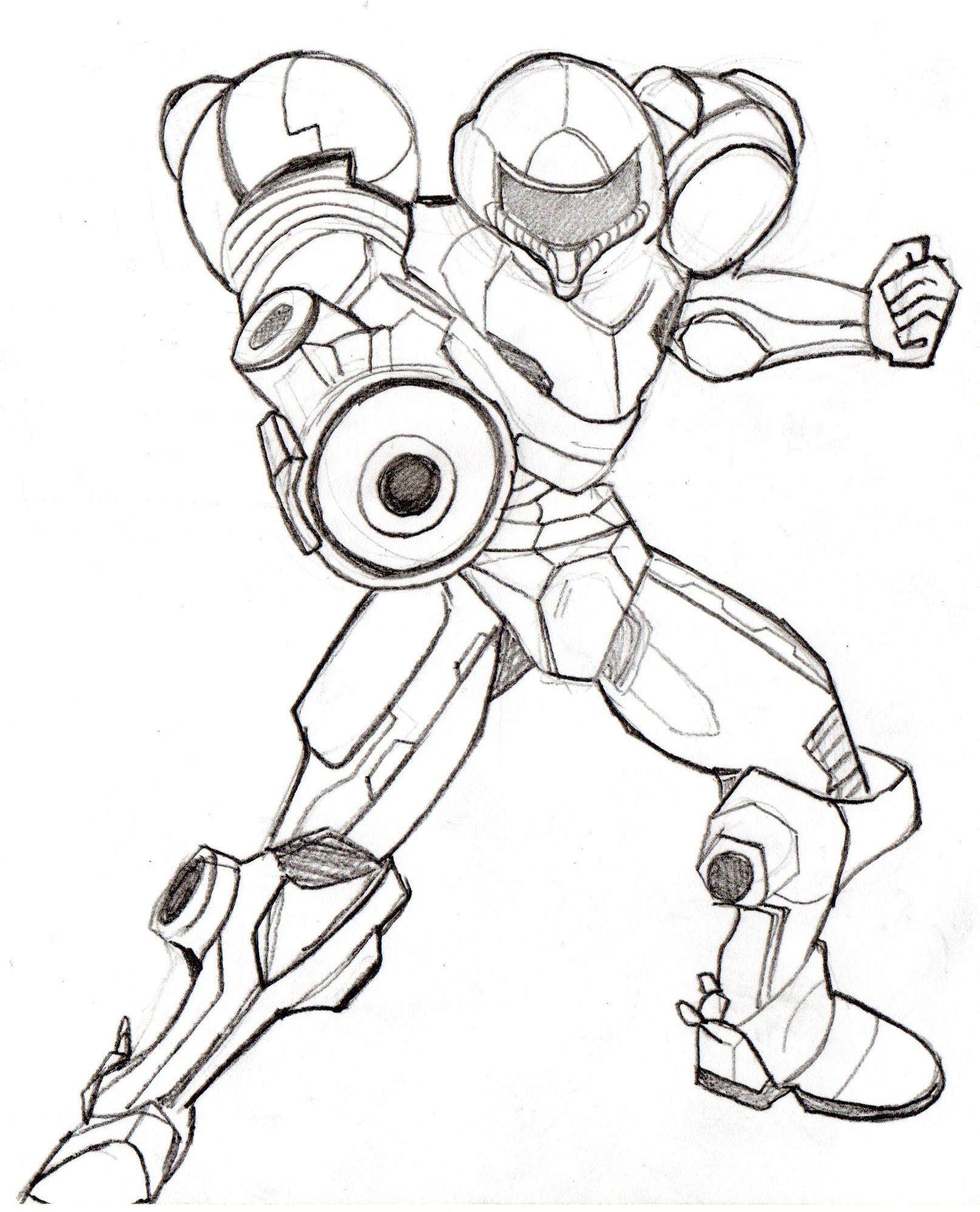 1614x1995 Samus From Super Smash Brothers Brawl (Sketch) Jesse Talks
