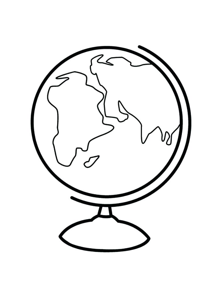773x1000 Globe Coloring Pages Free Globe Coloring Pages To Print For Kids