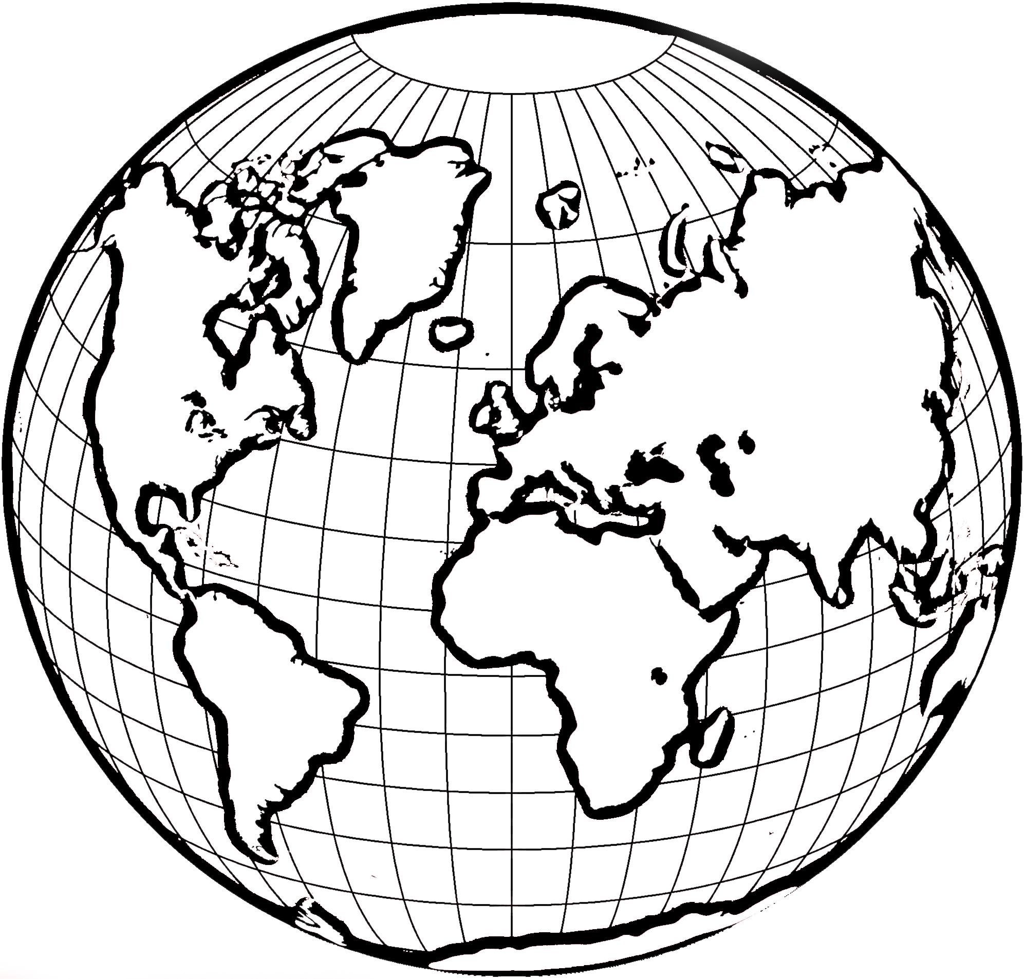 1995x1906 Globe Coloring My Favorite Pins Globe, Tattoo