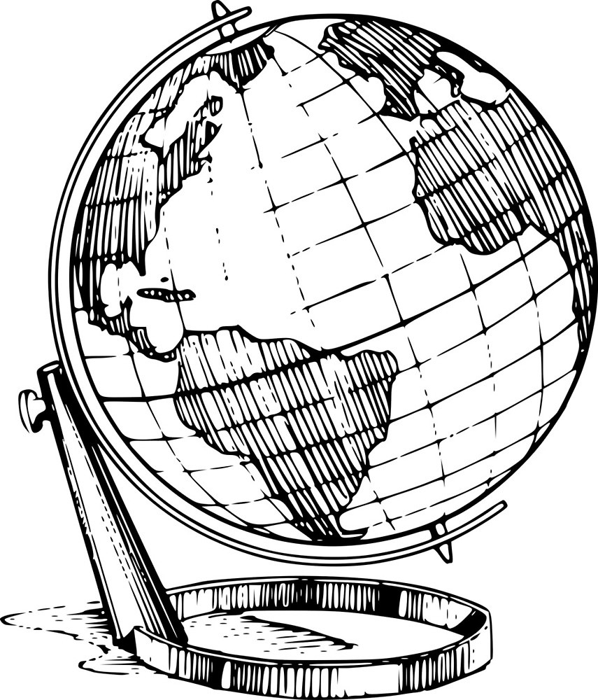 855x1000 Drawing Of The Globe