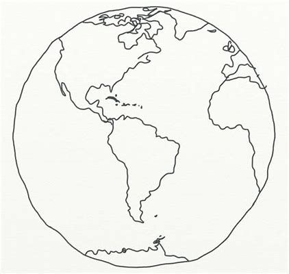422x400 Image Result For Line Drawing Globe Around The World