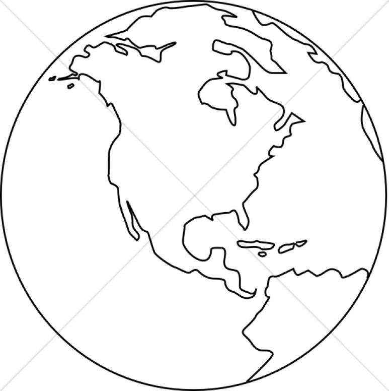 773x776 Line Art Globe Black And White Peace Clipart