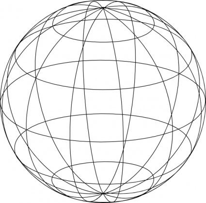 425x419 Wire Globe Clip Art Vector, Free Vector Graphics