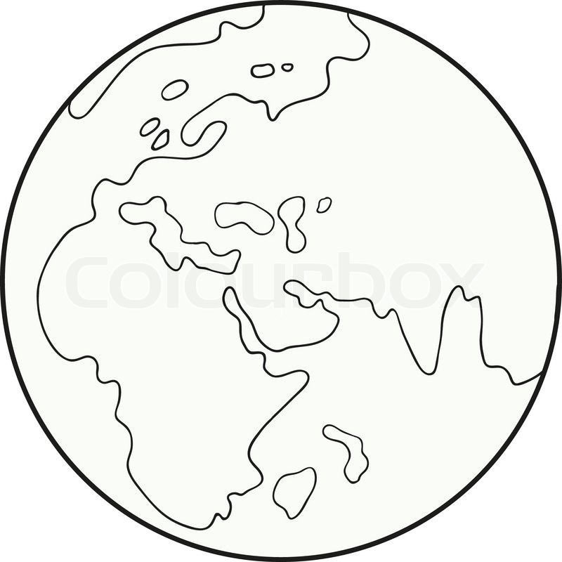 800x800 Caricature Of The Globe On A White Background Stock Vector
