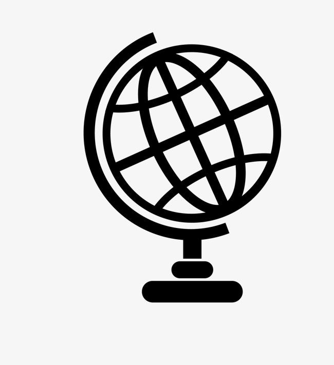 650x711 Cartoon Black Line Globe, Cartoon, Black, Line Png And Vector