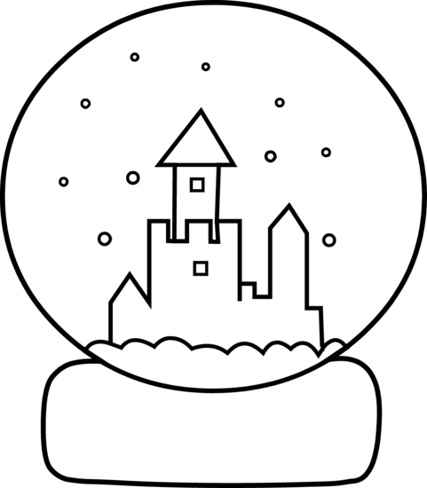 481x550 Cute Snow Globe Coloring Page