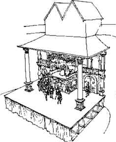 Globe Theater Drawing