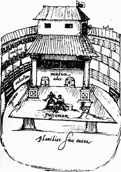 474x670 Interior Of The Swan Theatre, Bankside, London, 1596. Artist