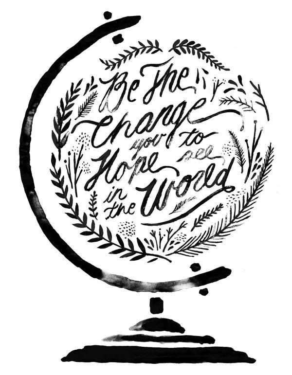 600x771 Painting Idea Globe Artsy Craftsy Typography