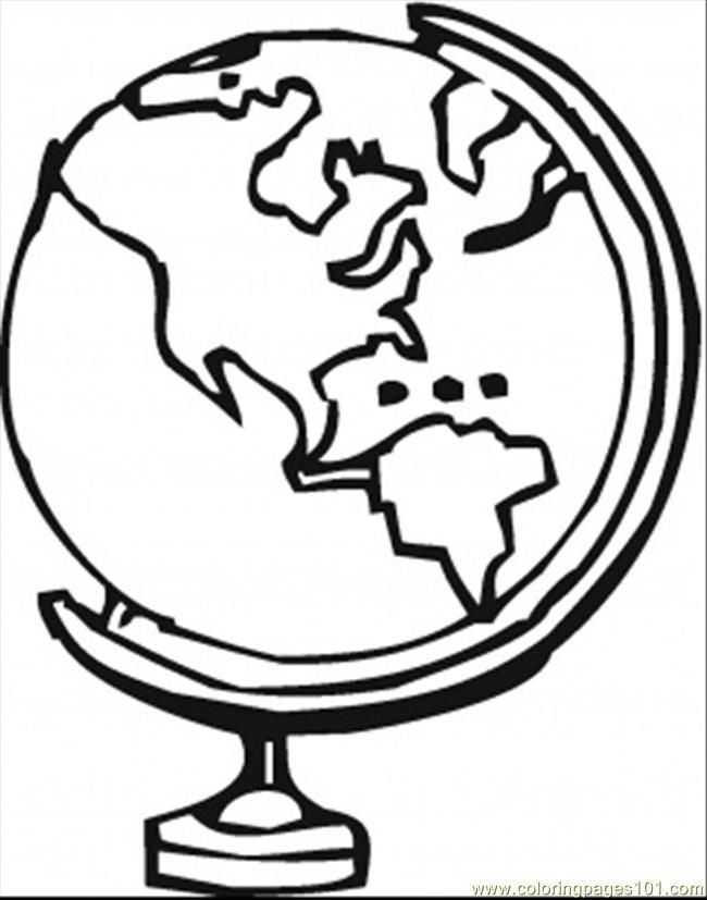 650x827 Delighted Globe Coloring Page World Pages Home