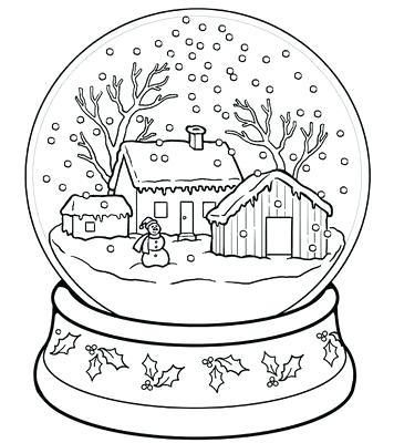 356x400 Globe Coloring Snow Globe Coloring Pages Snow Globes Images