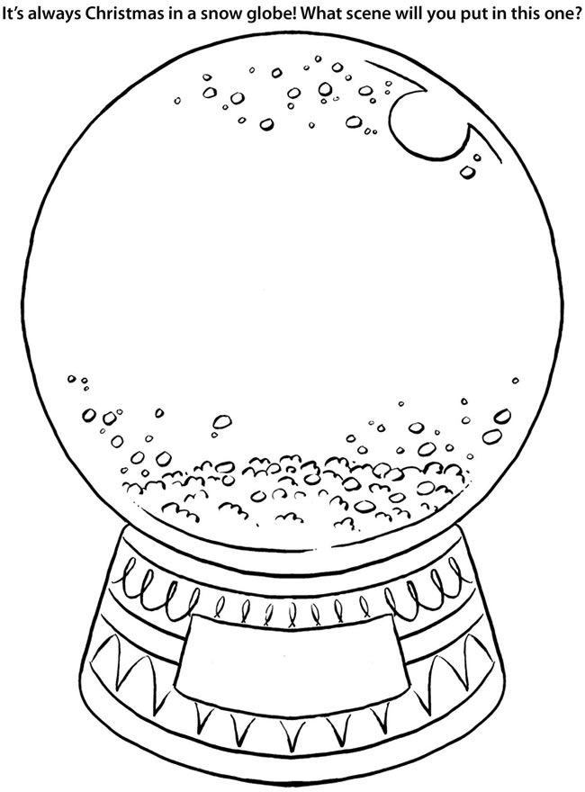 650x880 Snow Globe Coloring Page Worksheets, Globe And Snow