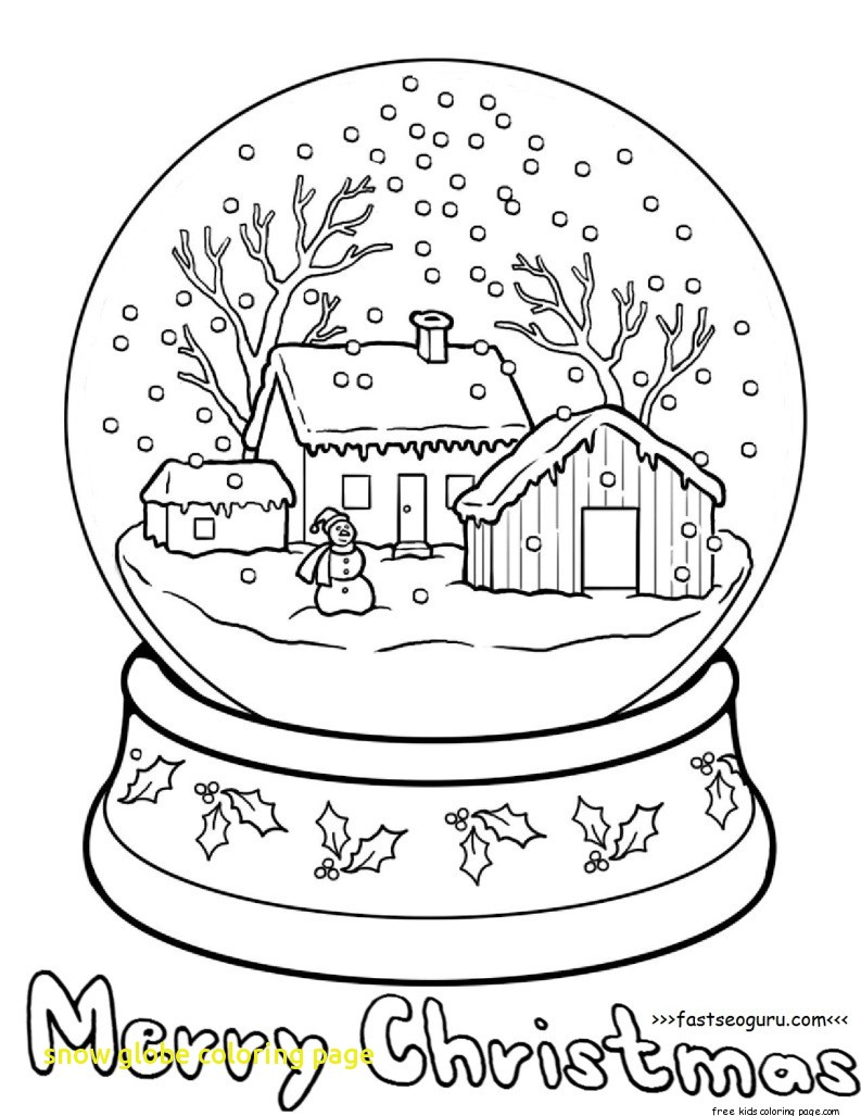 793x1027 Snow Globe Coloring Page With Christmas Tree Snow Globe Coloring