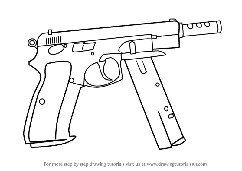 800x567 Learn How To Draw Cz75 Auto From Counter Strike (Counter Strike