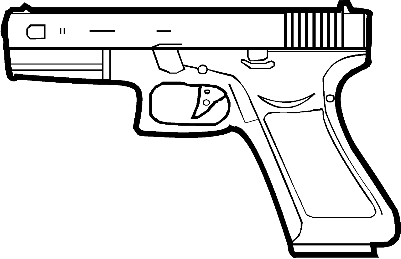 Glock Drawing At Free For Personal Use 17 Diagram 1280x827 Fileglocksvg