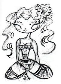 203x280 Daisy's Drawings Dios De La Muerte Ladies Dark Arts